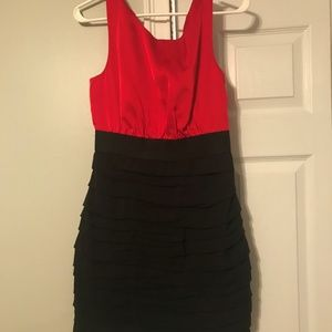 RED AND BLACK DRESS FROM EXPRESS